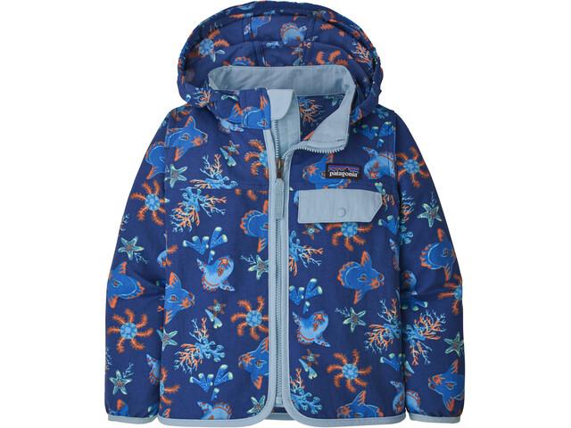 Patagonia Baggies Jacket Kids mola mola/superior blue